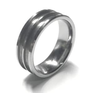 8mm Double Channel Tungsten Ring Core
