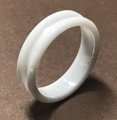 White Ceramic Ring Core white ceramic 2 | Ring Turning Supplies UK