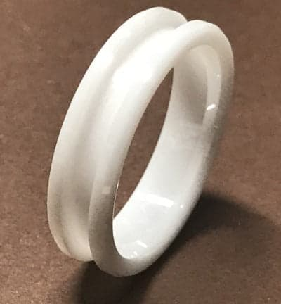 White Ceramic Ring Core white ceramic3 1 | Ring Turning Supplies UK