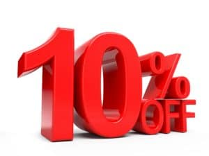 10% OFF coupon discount code